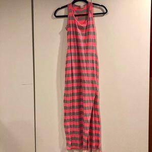 Stripped Racerback Tank Dress